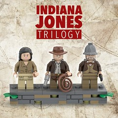 Indiana Jones Trilogy (LEGO Ideas) [Minifigs] (BenBuildsLego) Tags: indiana jones lego legos idea minifigure minifigures toy micro benbuildslego cool design whip classic stand support marion ravenwood adventure 1980s movie movies trilogy gun