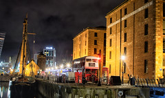 Liverpool's Dusk (VisualTheatrics) Tags: canon canon750d citylife c city colour canoncamera conceptual calm colours canonstories color photography photograph pointofview people public photo pov portraits perspective perspectives architecture art architectural arts artist archi apicoftheweek nightphotography night nikcollection nikcollectiondxo nightime nightphoto history historical histories street streetphotography ship albertdock liverpool landmarks landmark local light look leadinglines lowlight lowlightphotography