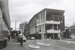 Brisbane (goodfella2459) Tags: nikonf4 kodaktrix400 35mm blackandwhite film analog city streets brisbane queensland buildings road brisbaneconventionandexhibitioncentre bwfp
