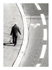 Follow the path. (streetspirit13) Tags: symétrie minimalism bw bnwphotographer bnwdemands bnwphotography bnw bnwstreetphoto blackandwhite noiretblanc blancoynegro rawstreet capturestreet canonfrance streetpassionaward