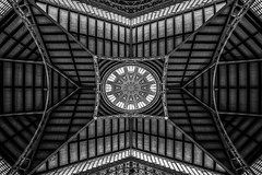 )>o<( (Blende1.8) Tags: mercatcentralvalencia mercatcentral valencia geometry dome kuppel roof dach ceiling markthalle wideangle weitwinkel sel1224g 12mm interior indoors construction symmetry symmetrie