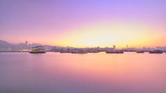 冬 暮 (Wilson Au | 一期一会) Tags: hongkong kwuntong longexposure 4minuteexposure slowshutter evening sunset dusk twilight nightfall color purple light fujinon xf1024mmf4rois fujifilm xt3 香港 觀塘 smooth water boats city aspectratio169 pink colorful