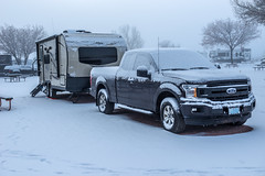Time to Leave! (tatlmt) Tags: gallup new mexico worldtour snow winter ford f150 rockwood 2109s