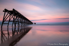 STRONG (lynneberry57) Tags: steetley beach headland pier sunset hartlepool structure waves sea tide nature old dilapidated coast seascape landscape canon 70d leefilters pink reflections longexposure sky clouds light