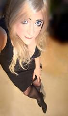 Black Bootie (Marie Marie Belle) Tags: girlslikeus boytogirl transgender transvestite transisbeautiful tranny transe transformation tv tgirl tg crossdressing crossdress crossdresser makeup dress drag shemale ladyboy lgbt strumpfhose tights pantyhose blonde bootie mtf eyes