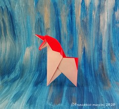 Unicorn (mancinerie) Tags: origami paperfolding papiroflexia papierfalten unicorn origamiunicorn francescomancini mancinerie