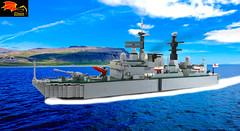 00 HMS Sheffield (Eínon) Tags: type 42 destroyer santisima trindad hercules task force operation corporate batch 1 lego exocet royal navy england united kingdom argentina cold war falklands