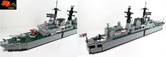 02 HMS Sheffield - Details (Eínon) Tags: type 42 destroyer santisima trindad hercules task force operation corporate batch 1 lego exocet royal navy england united kingdom argentina cold war falklands