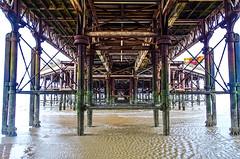 Under Central Pier (AffieFilms) Tags: blackpool pier seaside lancashire iron rust