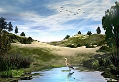 The Pond by Dan Seitzinger - 1-8-20 (d.m.s. studios) Tags: landscape 3dart artwork pond birds spring springtime paintingconcept byartist danseitzinger