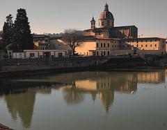 la chiesa di San Frediano  in Cestello (frastebio) Tags: firenze toscana chiesa arno fiume riflessi alberi gabbiani case centrostorico cielo