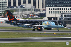 OO-SNB Airbus A320-214 EBBR 14-05-19 (MarkP51) Tags: oosnb airbus a320214 a320 brusselsairlines sn bel tintin special colours brussels zaventem airport bru ebbr belgium airliner aircraft airplane plane image markp51 nikon d500 nikon200500f56vr sunshine sunny