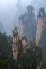 Sandstone Towers In The Mist (ttarpd) Tags: republic china republicofchina world travel zhangjiajie national forest park unesco global geopark wulingyuanscenicarea wulingyuan scenic zhangjiajiesandstonepeakforestnationalgeopark sandstone peak hunan province towering pillar pillars quartzsandstone landscape