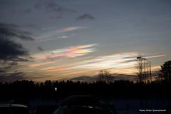Polar stratospheric clouds! (petergranström) Tags: approved clouds moln stratospheric stratosfär trees träd birches cars bilar sky himmel