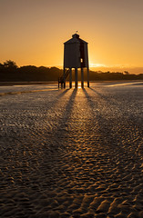 Golden Shadows (Tracey Whitefoot) Tags: 2020 tracey whitefoot burnham sea low lighthouse golden light shadows coast coastal somerset tide sunrise dawn sand beach