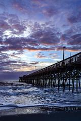Sunrise (jimpillion) Tags: gardencitybeach gardencity pier sunrise southcarolina clouds ocean nature beach