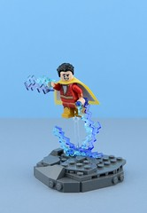 Shazam⚡ (Alex THELEGOFAN) Tags: lego legography minifigure minifigures minifigurine minifig minifigs minifigurines movie shazam thunder lightning bold rock gray fly dc comics super heroes hero