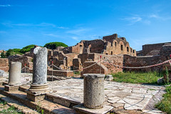 Ostia Antica (Per@vicbcca) Tags: ostiaantica civitavecchia rome cruise koningsdam rivertiber ancientbuildings frescoes harbourcity ancientrome sony rx100m5