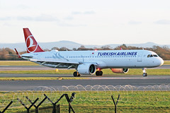 TC-LSM Airbus A321-271NX Turkish Airlines MAN 10JAN20 (Ken Fielding) Tags: tclsm airbus a321272n turkishairlines aircraft airplane airliner jet jetliner neo acf aviation