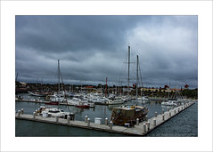 Quay side (prendergasttony) Tags: sea sky boats marine border mast usa storm america nikon florida atmosphere elements d7200 tonyprendergast docks clouds water blue white staugustines