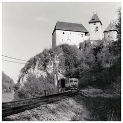 Ozalj 2 (Wolfgang Kraus) Tags: rollei6008 tmax100 finol eco carbontoning railway zeljeznice eisenbahn ozalj