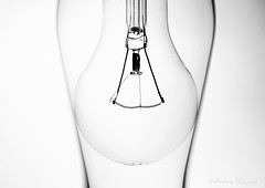 Into the Light (manxmaid2000) Tags: glass bulb monochrome shape element curve lamp shadow silhouette fuji tabletop stilllife highkey filament wire electric curves white graphic stark