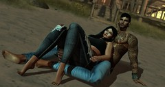 The best place to be is you (Mayelai Neisser) Tags: second life virtual avatar secondlife sl photograph art moment couple romantic sensual beach love woman man
