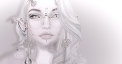 I'm Back (☢.:мelιnoe:.☢) Tags: secondlife sl pale headshot portrait white glow shadow close up glasses horns