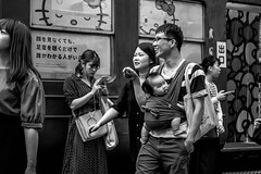 Tokyo 2019 (burnt dirt) Tags: shibuya tokyo japan asia japanese asian candid documentary street photography downtown metro urban city scramble crossing outdoor people person fujifilm xt3 fujinon 50mm f2 bw blackandwhite monotone monochrome woman girl smile laugh train station style fashion life real crowd tourist emotion expression portrait close nippon couple baby infant family