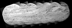 Rocky Layers (sjrankin) Tags: 11january2020 edited nasa mars msl curiosity galecrater grayscale panorama layers rocks zoom