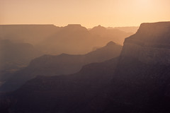 Canyon lights (Boris Capman) Tags: pentax67 pentax6x7 kodak portra grand canyon national park usa nature scenery outside landscape sunset filmphotography 120 mediumformat travel arizona explore analog