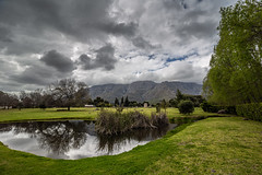 COUNTRYSIDE (Michael Leshets) Tags: stellenbosch westerncape southafrica nopeople outdoors nature scenicsnature tree mountain green color sky grass lake water beautyinnature reflection landscapescenery