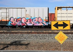 Kerse (EricBMW) Tags: kerse graffiti freight freights train trains traintracks trainyard boxcar boxcars bnsf burlingtonnorthernrailway unionpacific railroad rails railroads rail