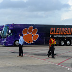 Clemson arrives for 2020 CFP National Championship Game