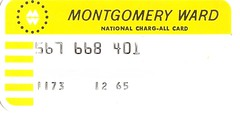 1965 Montgomery Ward Credit Card (1240east) Tags: 1965 montgomery ward credit card closed retro defunct
