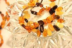 Amber Beads (ladybugdiscovery) Tags: smileonsaturday beads amber highkey