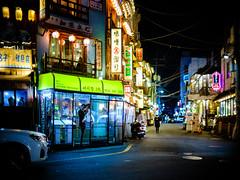 2218/1746'z (june1777) Tags: snap street alley seoul night light bokeh fujifilm gfx 50r canon ef 50mm f10 ii 640 velvia adcn hongdae