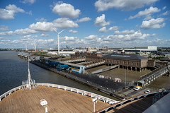 Arriving at London International Cruise Terminal, River Thames, UK (Peter.Stokes) Tags: colour landscape landscapes outdoors photo photography saltwater ship sky transport uk vacations water riverthames river tilbury vascodagama londoninternationalcruiseterminal
