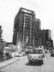 Rubble from Construction - 2nd May 2019 (princetontiger) Tags: kenya nairobi grayscale monochrome blackandwhite construction contructionsite constructionworker constructionworkers