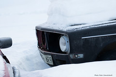 Volvo 142! (petergranström) Tags: approved volvo 142 car bil snow snö light ljus lantern lykta hood huv