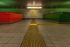 Light destination (jefvandenhoute) Tags: belgium belgië antwerpen metro light lines shapes