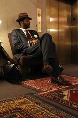 The hotel guest (chipje) Tags: hotel man corridor elevator chicago clubquartershotel centralloop 111westadamsstreet