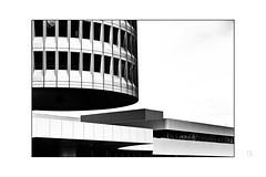 """"""" Zylinderteil """" (antonkimpfbeck) Tags: bmw munich architektur art monochrome bw fujifilm"""