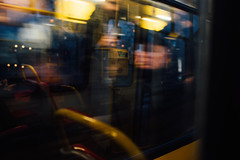 Flash impression (ewitsoe) Tags: everydaymoments lifestyle nikon street warszawa winter cinematic erikwitsoe poland warsaw blur motion man tram window drive past glances impression obscure malefigure face