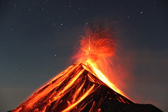 Volcan de Fuego (kattlinn) Tags: volcano vulkan volcandefuego guatemala acatenango hiking hikinggirl stars fire antigua firecircle eruption beauty unbelievable loud