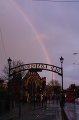 IMGP5559 (Steve Guess) Tags: oldlondonroad kingstonuponthames kingston surrey greater london england gb uk rainbow lovekyn chapel sign