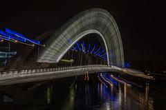 Fiat lux (Giloustrat) Tags: lyon lumières des fete night bridge zoom pentax k3 blue white france pentaxflickraward saariysqualitypictures