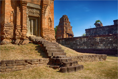 Saturday for Stairs (Janos Kertesz) Tags: temple cambodia bakong old travel building stone architecture ancient asia khmer religion ruin siem angkor