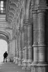 ... searching ... (heinzkren) Tags: schwarzweis blackandwhite monochrome wien vienna opera oper mann candid street streetphotography canonr eosr urban building architecture architektur pillars säulen old ars art antic silhouette