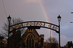 IMGP5560 (Steve Guess) Tags: oldlondonroad kingstonuponthames kingston surrey greater london england gb uk rainbow lovekyn chapel sign
